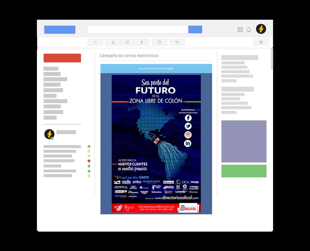 83pixeles | Dizolicol | Campaña de Correo Electronico en Panamá | Mailing